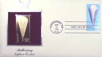 #2035 20¢ Balloons - Gold-Foil First Day Cover