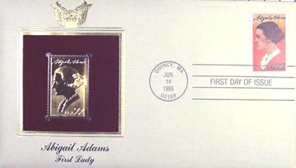 #2146 22¢ Abigail Adams - Gold-Foil First Day Cover