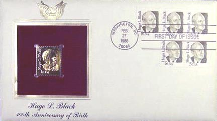#2172 5¢ Justice Hugo Black - Gold-Foil First Day Cover