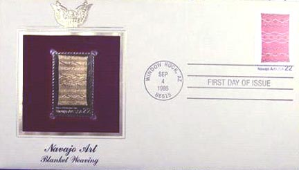 #2235 22¢ Navajo Art - Gold-Foil First Day Cover