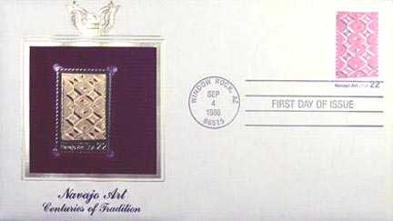 #2236 22¢ Navajo Art - Gold-Foil First Day Cover