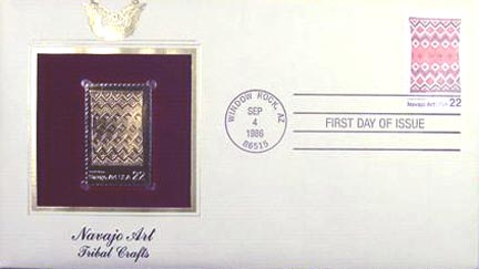 #2237 22¢ Navajo Art - Gold-Foil First Day Cover