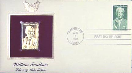 #2350 22¢ William Faulkner - Gold-Foil First Day Cover