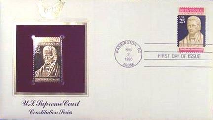 #2415 25¢ US Supreme Court - Gold-Foil First Day Cover