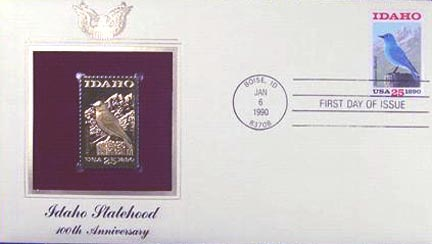 #2439 25¢ Idaho State Centennial - Gold-Foil First Day Cover