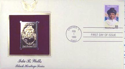 #2442 25¢ Ida B. Wells - Gold-Foil First Day Cover