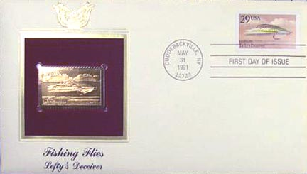 #2548 29¢ Fishing Flies: Lefty's Deceiver - Gold-Foil First Day Cover