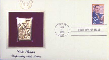 #2550 29¢ Cole Porter - Gold-Foil First Day Cover