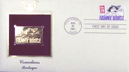 #2565 29¢ Comedians: Fanny Brice - Gold-Foil First Day Cover