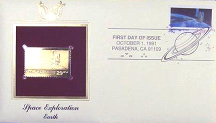 #2570 29¢ Space Exploration: Earth - Gold-Foil First Day Cover