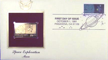 #2571 29¢ Space Exploration: Moon - Gold-Foil First Day Cover