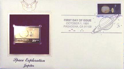 #2573 29¢ Space Exploration: Jupiter - Gold-Foil First Day Cover