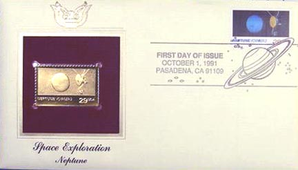 #2576 29¢ Space Exploration: Neptune - Gold-Foil First Day Cover