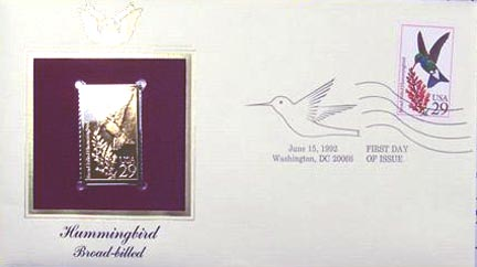 #2643 29¢ Hummingbirds: Calliope - Gold-Foil First Day Cover
