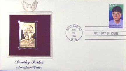 #2698 29¢ Dorothy Parker, American Write - Gold-Foil First Day Cover