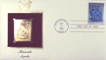 #2700 29¢ Minerals: Azurite - Gold-Foil First Day Cover