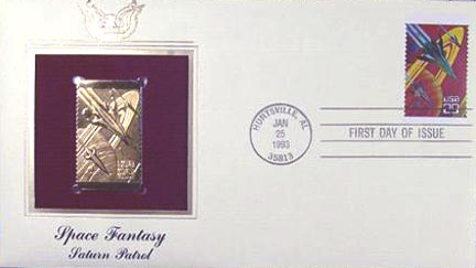#2741 29¢ Space Fantasy - Gold-Foil First Day Cover