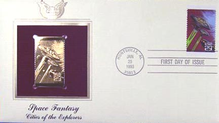 #2742 29¢ Space Fantasy - Gold-Foil First Day Cover