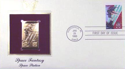 #2744 29¢ Space Fantasy - Gold-Foil First Day Cover