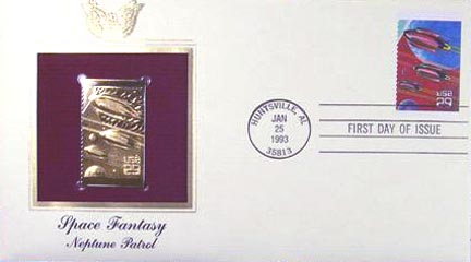 #2745 29¢ Space Fantasy - Gold-Foil First Day Cover