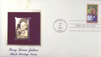 #2746 29¢ Percy Lavon Julian - Gold-Foil First Day Cover