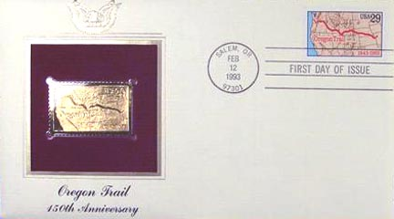 #2747 29¢ Oregon Trail - Gold-Foil First Day Cover
