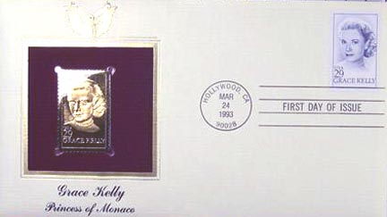 #2749 29¢ Grace Kelly - Gold-Foil First Day Cover
