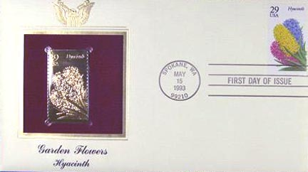 #2760 29¢ Flowers: Hyacinth - Gold-Foil First Day Cover