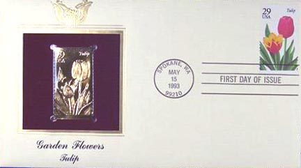 #2762 29¢ Flowers: Tulip - Gold-Foil First Day Cover