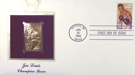 #2766 29¢ Joe Louis - Gold-Foil First Day Cover