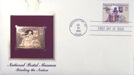 #2780 29¢ National Postal Museum: Pony Express - Gold-Foil First Day Cover