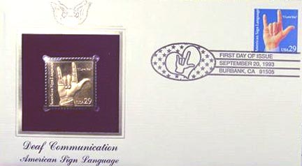 #2784 29¢ American Sign Language - Gold-Foil First Day Cover