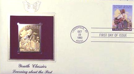 #2786 29¢ Classic Books: Little house on the Prairie - Gold-Foil First Day Cover
