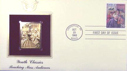 #2788 29¢ Classic Books: Little Women - Gold-Foil First Day Cover