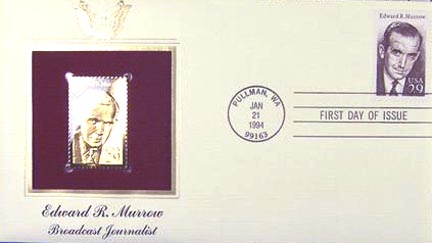 #2812 29¢ Edward R. Murrow - Gold-Foil First Day Cover