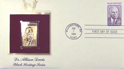 #2816 29¢ Dr. Allison Davis - Gold-Foil First Day Cover