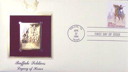 #2818 29¢ Buffalo Soldiers - Gold-Foil First Day Cover