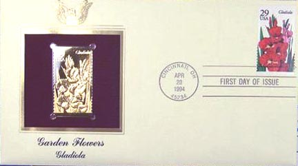 #2831 29¢ Garden Flowers: Gladiola - Gold-Foil First Day Cover
