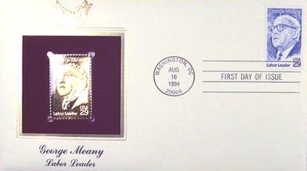 #2848 29¢ George Meany - Gold-Foil First Day Cover