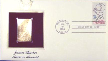 #2862 29¢ James Thurber - Gold-Foil First Day Cover