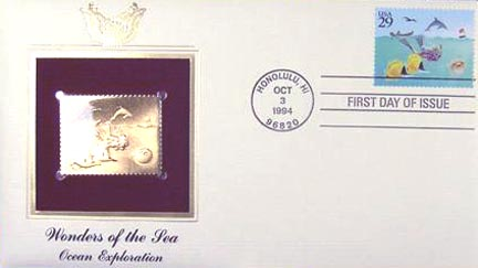 #2863 29¢ Wonders of the Sea: Motorboat - Gold-Foil First Day Cover