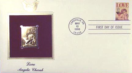 #2957 32¢ Love - Gold-Foil First Day Cover