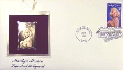 #2967 32¢ Marilyn Monroe - Gold-Foil First Day Cover
