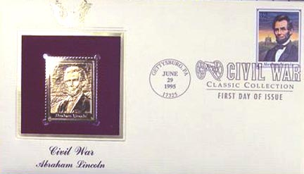 #2975j 32¢ Civil War: Abraham Lincoln - Gold-Foil First Day Cover