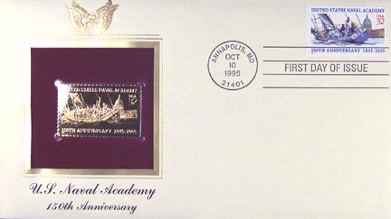 #3001 32¢ U.S. Naval Academy - Gold-Foil First Day Cover