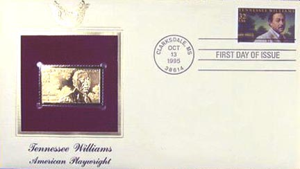 #3002 32¢ Tennessee Williams - Gold-Foil First Day Cover