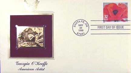 #3069 32¢ Georgia O'Keeffe - Gold-Foil First Day Cover