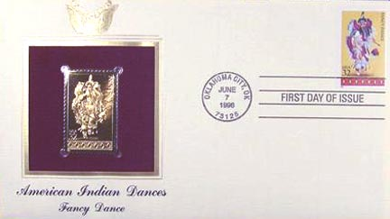 #3072 32¢ American Indian Dances: Fancy - Gold-Foil First Day Cover