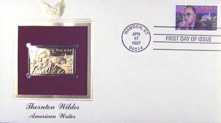 #3134 32¢ Thornton Wilder - Gold-Foil First Day Cover
