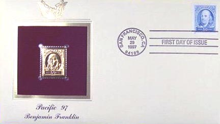 #3139a 50¢ Benjamin Franklin - Gold-Foil First Day Cover